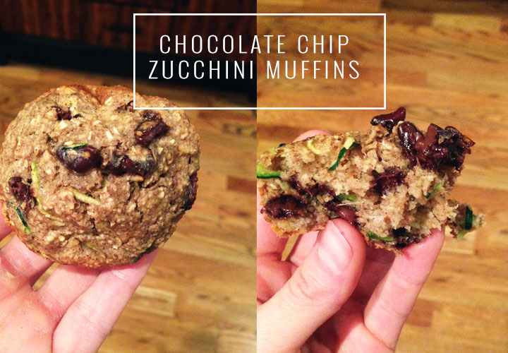 Chocolate Chip Muffins with zucchini