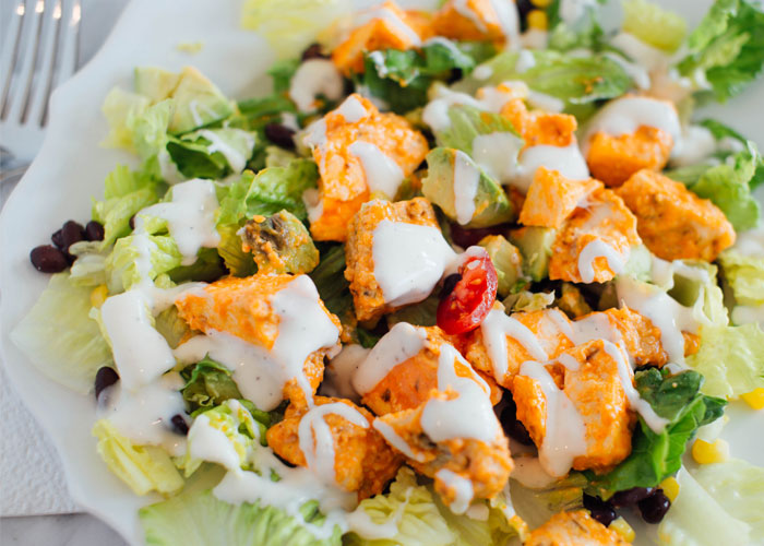 Healthy Chilis Buffalo Chicken Salad Recipe