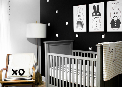 Black And White Little Man Cave Nursery