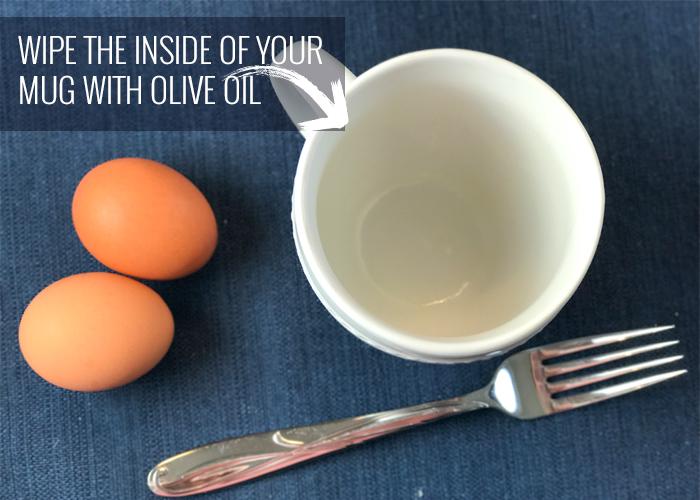 Microwavable scrambled eggs