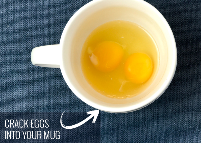 How to make scrambled eggs in microwave