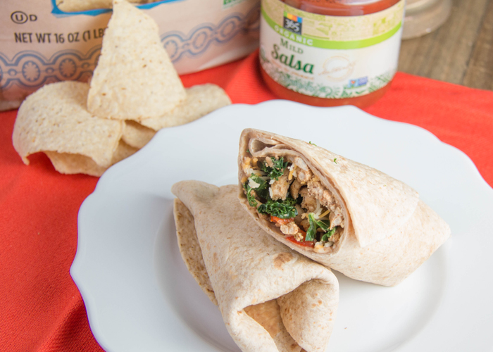 Healthy Turkey veggie burrito recipe