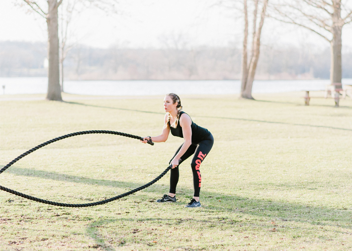 Battle Rope Cardio Workout