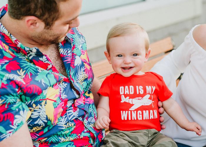 Dad is my wingman baby onesie